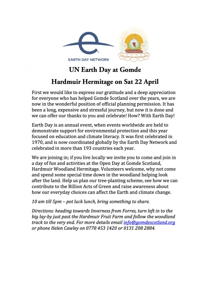 UN Earth Day at Gomde
