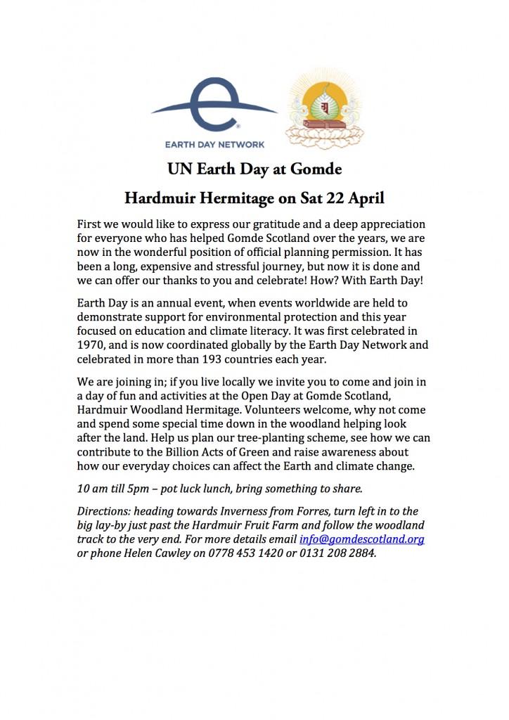 UN Earth Day at Gomde